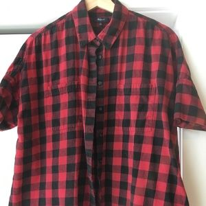 Red and Black Flannel Courier